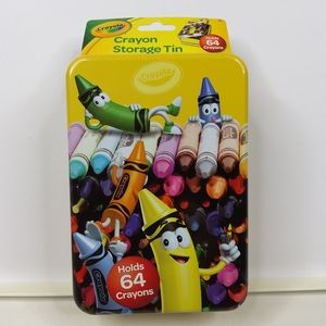 Animated Crayons in a Bunch Crayola Storage Tin
